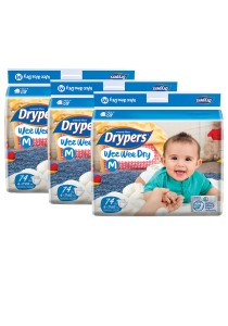 3 Packs Wee Wee Drypers Diaper M74