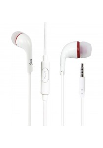 PQI Ear Buds Headset - White/Red