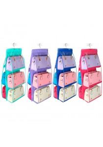 6 Pockets Closet Space Saving Handbags Holder Storage Organiser Hanger