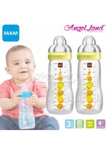 MAM Easy Active Baby Feeding Bottle 330ml Double Packs (Yellow)