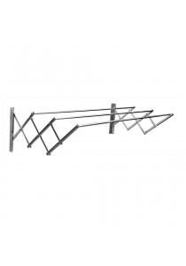 MHT 3FEET Laundry Wall Hanger Extension Cloth Hanger (Silver)