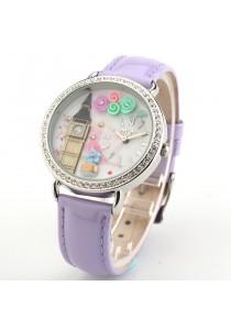 Korea Mini Watch MN2007 (Purple)