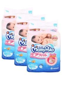 MamyPoko  Open Air Fit  Tape Diapers NB90 (3 packs)