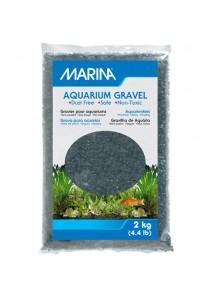 Marina Black Decorative Aquarium Gravel - 2 kg (4.4 lb)