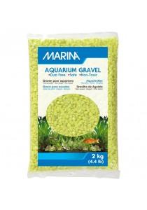 Marina Lime-Green Decorative Aquarium Gravel - 2 kg (4.4 lb)