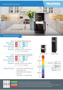 Mashida Alkaline Water Dispenser