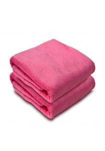 Essina Ultra Soft Microfiber Bath Towel 70x140 - 2pcs/set (PINK)