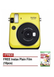 Fujifilm Instax Mini 70 Instant Film Camera (Canary Yellow) + 10pcs Plain Film