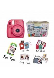 Fujifilm Instax Mini 8 Harajuku Combo Kit (Raspberry)