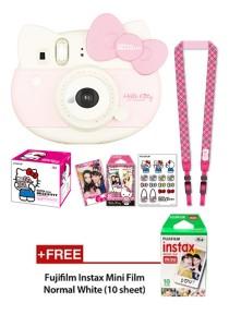 Fujifilm Instax Mini Hello Kitty + Stickers + Strap + Special Film + Instax Mini Plain Film (10pcs)