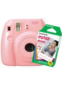 Fujifilm Instax Camera Mini 8 (Pink) + Plain Film (10pcs)