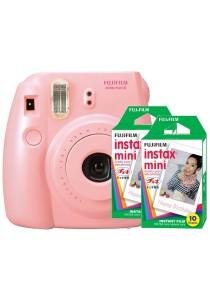 Fujifilm Instax Mini 8 (Pink) + Plain Film Twin Pack (20pcs)