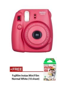 Fujifilm Instax Camera Mini 8 (Raspberry) + Plain Film (10pcs)