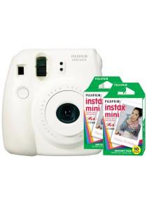 Fujifilm Instax Mini 8 (White) + Plain Film Twin Pack (20pcs)