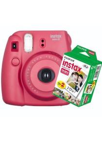Fujifilm Instax Mini 8 (Raspberry) + Plain Film Twin Pack (20pcs)