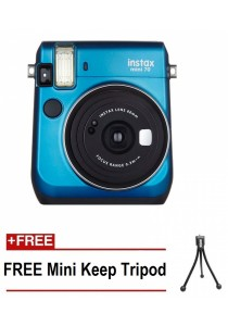 Fujifilm Instax Mini 70 Instant Film Camera (Blue) + Mini Tripod