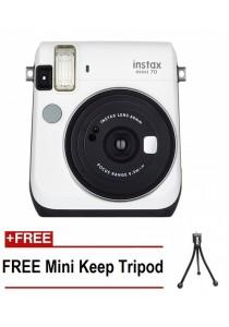 Fujifilm Instax Mini 70 Instant Film Camera (White)  + Mini Tripod