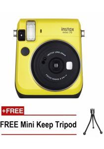 Fujifilm Instax Mini 70 Instant Film Camera (Yellow)  + Mini Tripod