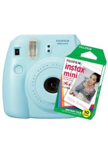 Fujifilm Instax Camera Mini 8 (Blue) + Instax Mini Plain Film (10pcs)