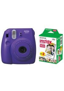 Fujifilm Instax Camera Mini 8 (Grape) + Instax Mini Plain Film (20pcs)