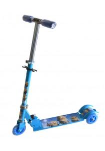 Kid's Adjustable Foldable Scooter - Minion Blue