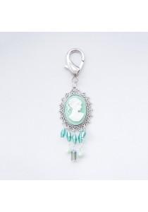 Cameo Mint Bag Charm Handmade by Shirleen Jeweliciouss