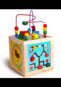 Montessori Bead Maze + Clock + Shapes + Beads Maze Wooden Educational Toys