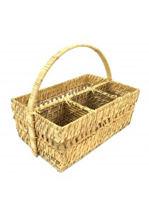 Weave & Woven Rectangular Cutlery/Wine Caddy (Natural)