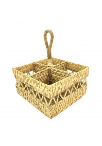 Weave & Woven Square Cutlery Caddy (Natural)