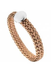 Caron Boutique Rose Steel Brick Mesh Style Stretchable Bracelet
