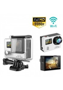 G3 2 Inch Dual Screen 1080P 30fps 12.0MP 170 Degree Full HD Wifi Waterproof Sport Action Camera - Silver