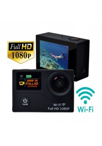 G3 2 Inch Dual Screen 1080P 30fps 12.0MP 170 Degree Full HD Wifi Waterproof Sport Action Camera - Black