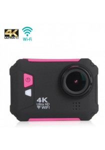 AT800 2.0-Inch 4K Ultra HD 60fps 12.0MP Wifi Waterproof Sport Action Camera - Pink