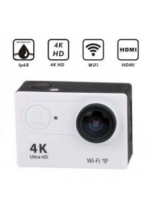 4K Ultra HD Waterproof 30M Sport Action Camera - Silver