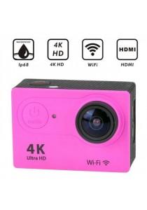 4K Ultra HD Waterproof 30M Sport Action Camera - Pink