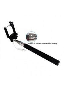 Monopod Cable Take Pole Selfie Stick Z07-5S 3.5mm Jack Shutter - Red