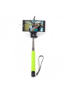 Monopod Cable Take Pole Selfie Stick Z07-5S 3.5mm Jack Shutter - Green