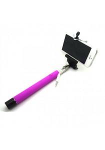 Monopod Cable Take Pole Selfie Stick Z07-5S 3.5mm Jack Shutter - Purple