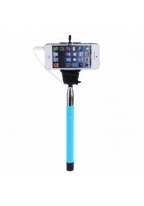 Monopod Cable Take Pole Selfie Stick Z07-5S 3.5mm Jack Shutter - Sky Blue
