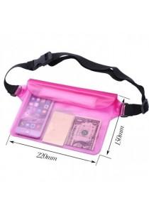 Universal Waterproof Waist Bag Pouch - Pink