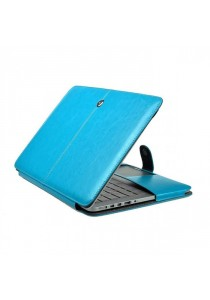 Fashion PU Leather Ultrathin Sleeve Case Cover For Macbook 12 Inch with Retina Display - Blue
