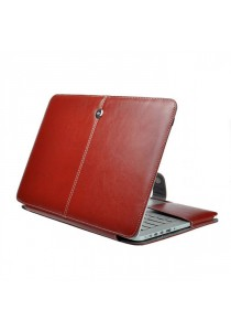 Fashion PU Leather Ultrathin Sleeve Case Cover For Macbook Air 11.6 Inch - Brown