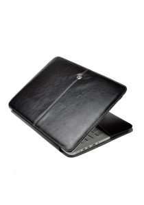 Fashion PU Leather Ultrathin Sleeve Case Cover For Macbook 13.3 Inch with Retina Display - Black