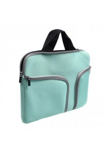 Handy Zipper Sleeve Bag with Pockets for All 11 Inch Notebook - Green