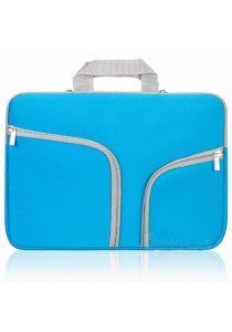 Handy Zipper Sleeve Bag with Pockets for All 13 Inch Notebook - Blue
