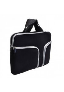 Handy Zipper Sleeve Bag with Pockets for All 13 Inch Notebook - Black