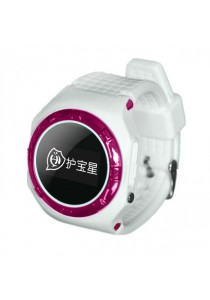 L20 Children GPS Tracker Smartwatch with SOS / Call and Voice Monitor - White / Pink