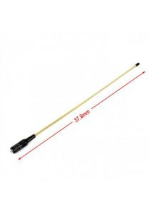 SMA Female 2.15dBi 10w Dual Band 38cm Antenna for Walkie Talkie - Metal Gold