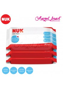 NUK Baby Wipes 80pcs Triple Packs (NU40272601)