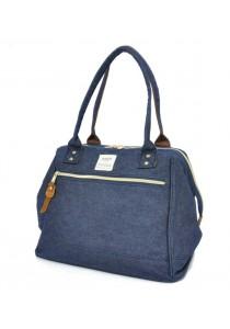 100% Authentic Anello Canvas Cotton Handbag Navy